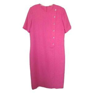 vintage pink midi dress size 10 12 large